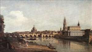 View of Dresden from the Right Bank of the Elbe with the Augustus Bridge