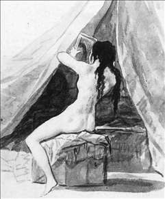Nude Woman Holding a Mirror