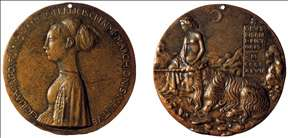Medal of Cecilia Gonzaga (obverse and reverse)