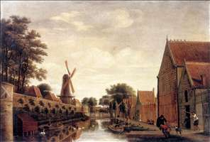 The Delft City Wall with the Houttuinen