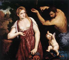 Venus and Mars with Cupid