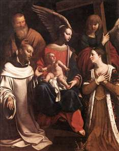 Holy Family with St Bruno and St Elisabeth