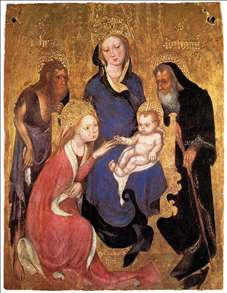 The Mystic Marriage of St Catherine, St John the Baptist, St Antony Abbot