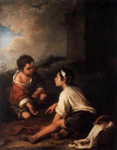 Two Boys Playing Dice