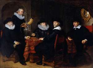 Four Governors of the Arquebusiers Civic Guard, Amsterdam, 1642