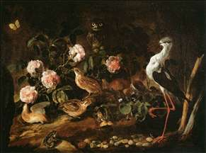 Still-Life with an Owl and an Ibis