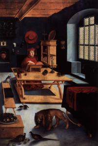 Cardinal Albrecht of Brandenburg as St Jerome in His Study