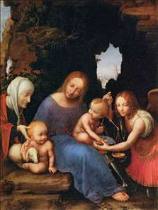 Virgin and Child with Sts Elizabeth, John and Michael