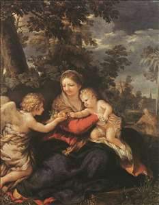 Holy Family Resting on the Flight to Egypt