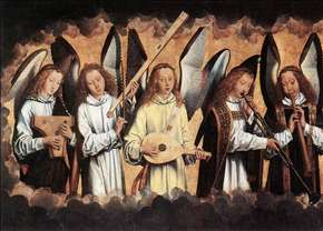 Angel Musicians (left panel)