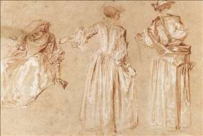 Three Studies of a Lady with a Hat