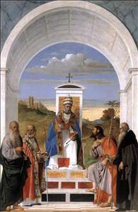 St Peter Enthroned and Four Saints