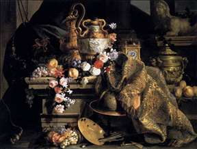 Still-Life of Flowers and Fruits