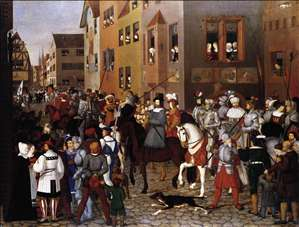 The Entry of Emperor Rudolf of Habsburg into Basle