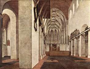 Interior of the St. Jans Kerk at Utrecht