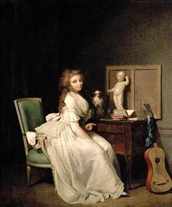 A Lady Seated at Her Desk