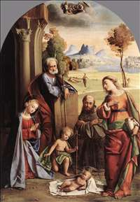 Nativity with Saints