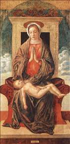 Madonna Enthroned Adoring the Sleeping Child