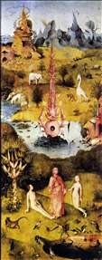 Triptych of Garden of Earthly Delights (left wing)