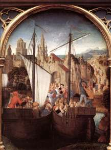 St Ursula Shrine: Arrival in Basle (scene 2)
