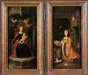Diptych with Margaret of Austria Worshipping
