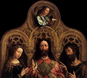 Christ between the Virgin and St John the Baptist