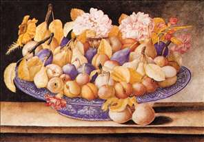 Still-Life of Fruit and Flowers
