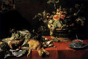 Still-Life with Fruit Basket and Game