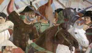 8. Battle between Heraclius and Chosroes (detail)