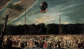 Ascent of the Monsieur Bouclé's Montgolfier Balloon in the Gardens of Aranjuez