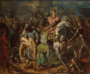 Death of Gaston de Foix in the Battle of Ravenna on 11 April 1512