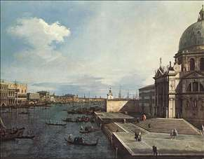 The Grand Canal at the Salute Church