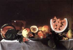 Still-Life with Fruit and a Carafe of White Wine