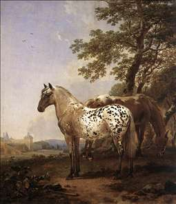 Landscape with Two Horses