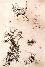 Study of a child with a cat (facsimile)