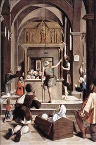 Pilgrims at the Tomb of St Sebastian