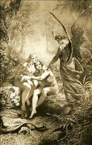 Illustration to Imre Madách's The Tragedy of Man: In the Paradise (Scene 2)