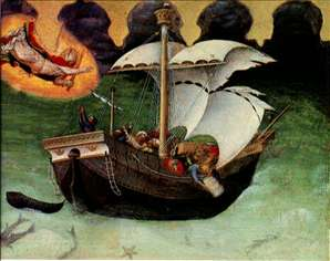 Quaratesi Altarpiece: St. Nicholas saves a storm-tossed ship