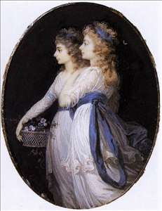 Georgiana, Duchess of Devonshire, with Lady Elizabeth Foster