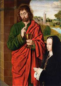 Anne of France, Duchesse de Bourbon, Presented by St John the Evangelist