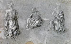 Studies of Two Females and a Male Saint