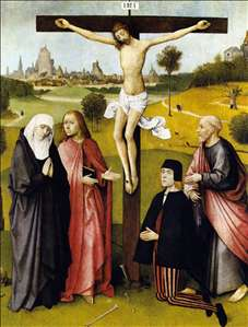 Crucifixion with a Donor
