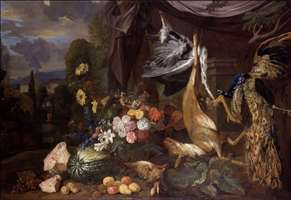 Still-Life with Flowers and Fowl