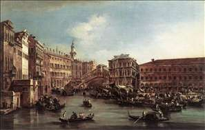 The Rialto Bridge with the Palazzo dei Camerlenghi