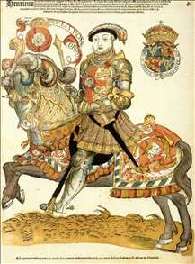 Henry VIII of England on Horseback