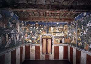 View of the frescoes of Months