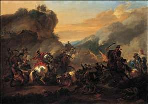 A Cavalry Battle Scene