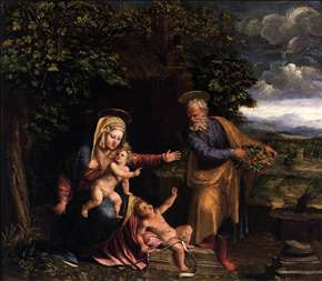 Holy Family with the Young St John the Baptist