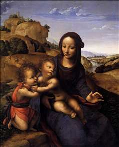 Madonna and Child with Infant St John