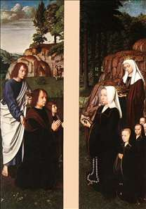 Triptych of Jean Des Trompes (side panels)